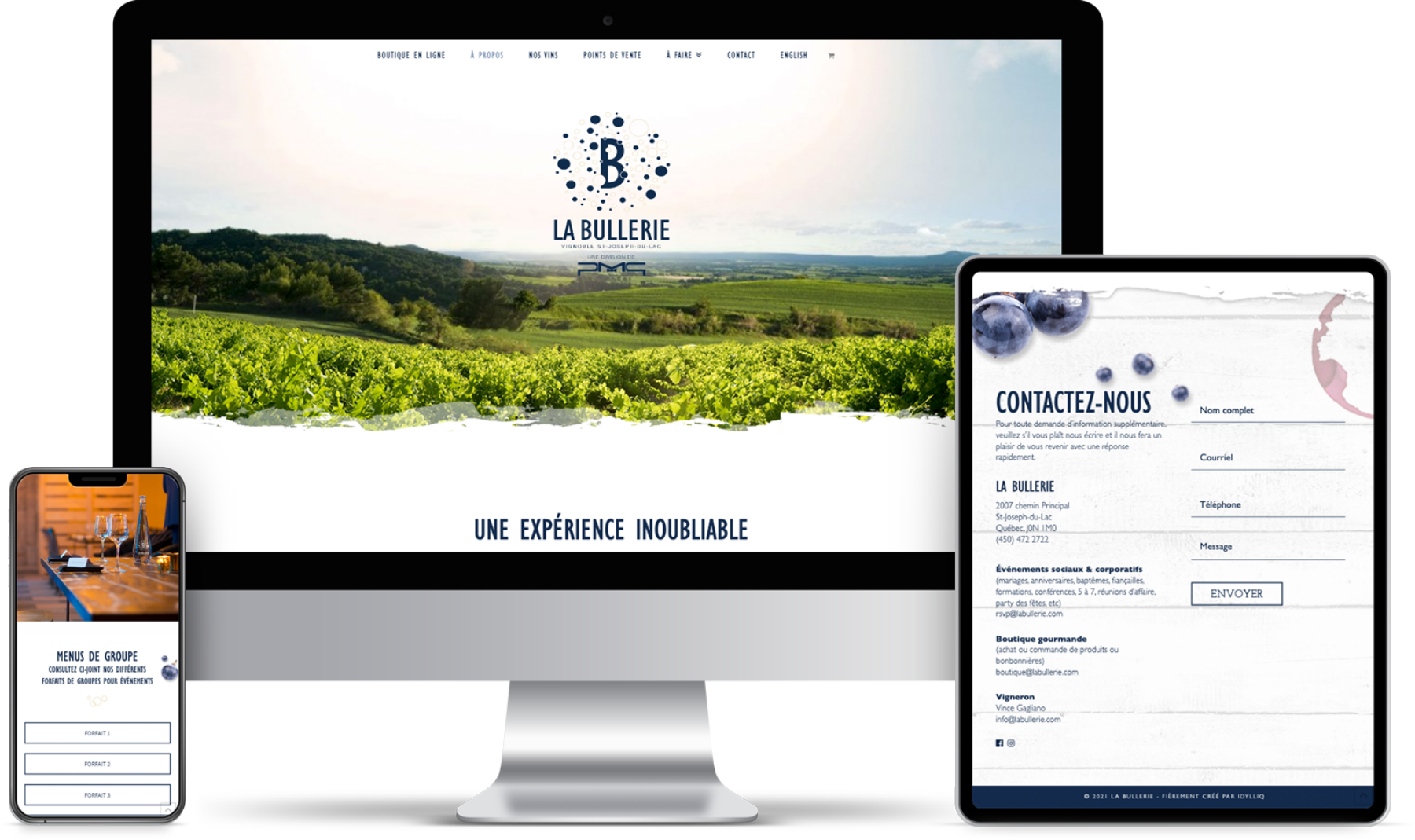 La Bullerie - Idylliq - Site webs